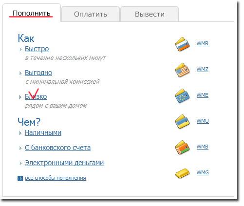 Как пополнить кошелёк WebMoney – подробная инструкция