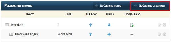 Урок по наполнению сайта, сделанного на okis.ru: нажмите на кнопку «+ Добавить страницу»
