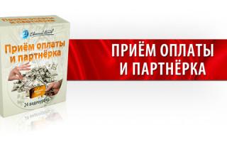 Видеокурс «Приём оплаты и партнерка» от Евгения Попова