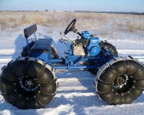 Как создать вездеход, каракат, снегоход, пневмоход, квадроцикл и болотоход из мотоблока?