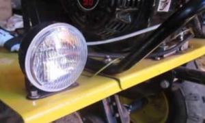 Как на мотоблоке сделать свет?