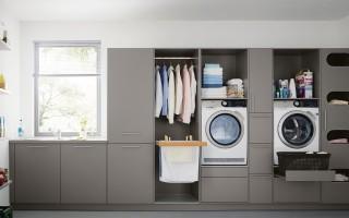 Как организовать прачечную в ванной?
